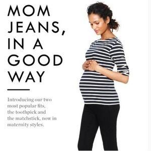 J. Crew Maternity Toothpick Black Jeans